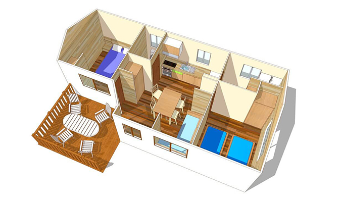 Plan mobil-home cottage
